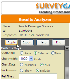 Results Analyzer Export Output to External Window