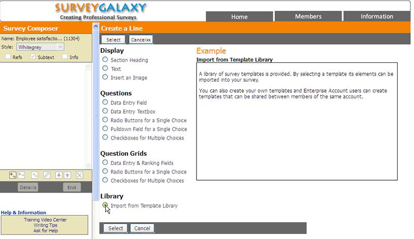 site survey template